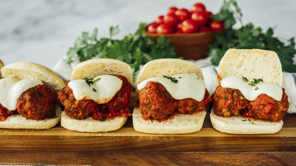 Italian Meatball Sandwiches Recipe - Italian Meatball Sandwiches
