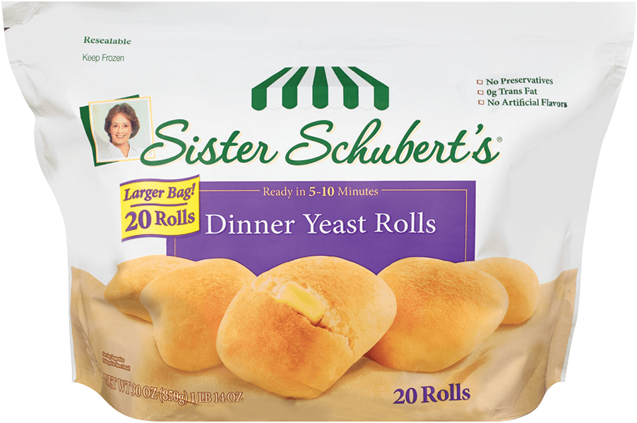 sister schuberts dinner yeast rolls 20 count - Sister Schubert's® Dinner Yeast Rolls 20 Count