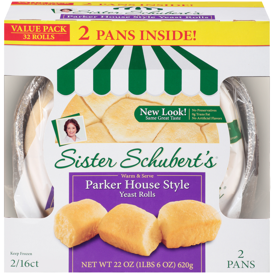 Sister Schubert S Parker House Style Yeast Rolls Twin Pack