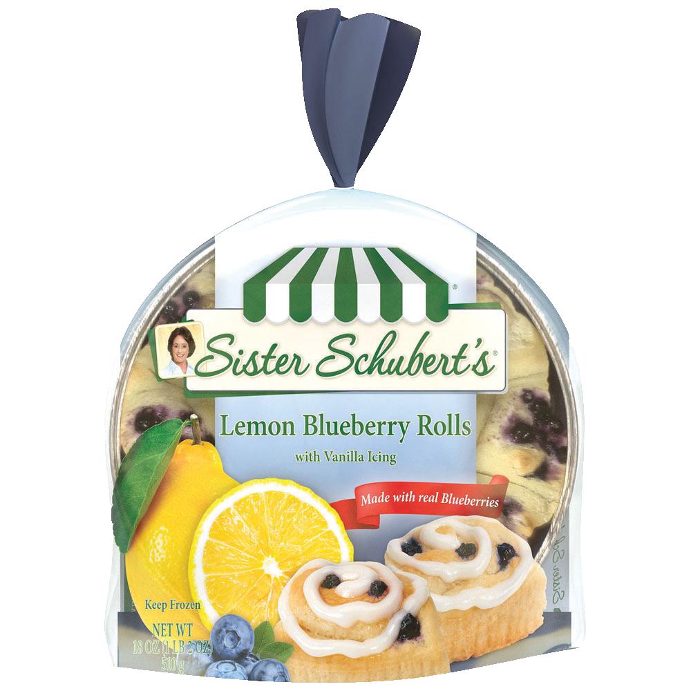 Sister Schubert S Lemon Blueberry Rolls Sister Schubert S